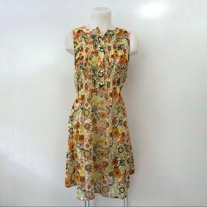 ModCloth Dress Floral Print Small Sleeveless